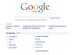 Use google trends to keep content current
